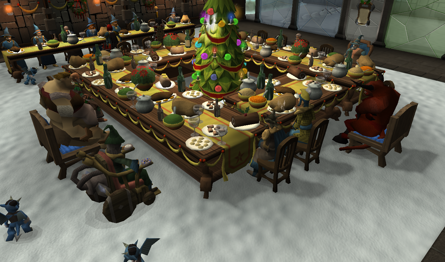 Runescape 2021 Christmas Event Picture Of The Runescape Christmas Feast Mmo Fallout
